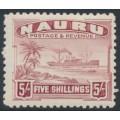 NAURU - 1937 5/- claret Freighter on shiny paper, MNH – SG # 38B