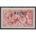 NAURU - 1916 5/- bright carmine Seahorses (De La Rue printing) o/p NAURU, MH – SG # 22